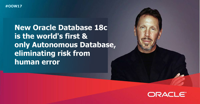 Oracle Database 18c : Now available on the Oracle Cloud and Oracle